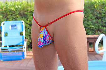 Python Paint Splash Thong
