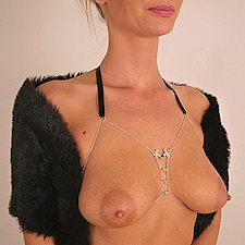 Womens Silver Breast Chain